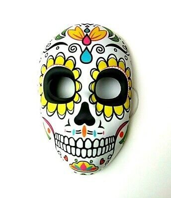 The Day Of Halloween (Day of the Dead Mardi Gras Halloween Skeleton Face Mask Party One-Size)