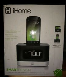IHOME iC50B SMART DESIGN ALARM CLOCK RADIO SPEAKER FM STEREO ANDROID & MORE NEW