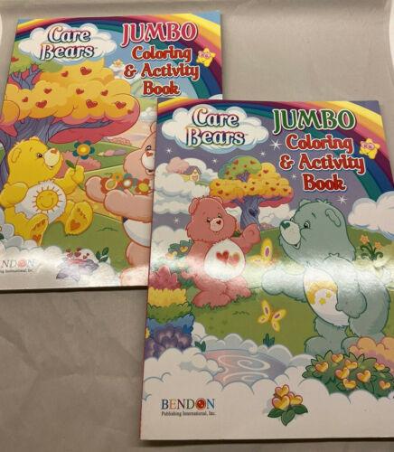 Lot of 2 Care Bears Jumbo Coloring Books Unused Gift