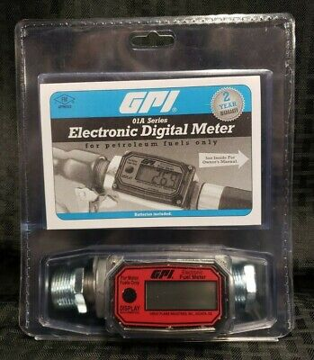 Gpi Electronic Digital Fuel Meter 01a31gm 1 Npt Female Aluminum 113255-1