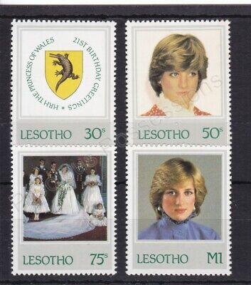 1982 Princess Diana 21st Birthday MNH Stamp Set Lesotho SG 514-517
