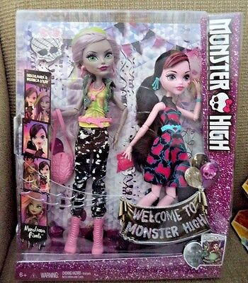 Monster High Monstrous Rivals Draculaura & Moanica D'Kay Doll (2-Pack) *new*