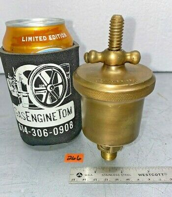 American Lubricator 2 T-handle Automatic Brass Grease Cup Hit Miss Vintage 38