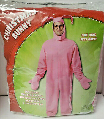 New Christmas Story Bunny Costume Adult Male One Size Fits Most Never Worn