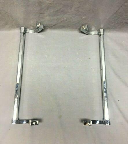 """ONE Pr Vtg NOS 14"""" Chrome Brass Sink Side Under Mount Towel Bar Art Deco 260-19J"""