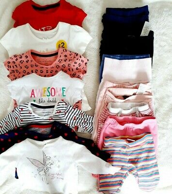 Baby Girl Clothes bundle Summer Tops Leggins Tshirt 3-6 Months