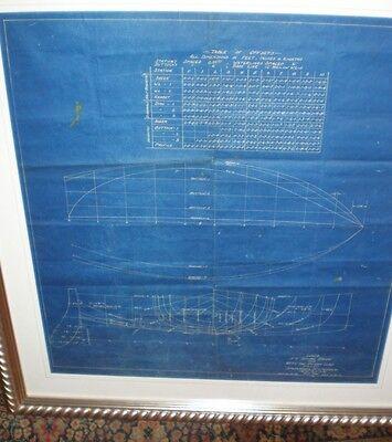 "Original "" Yacht Blue Print of Ship"" John G. Alden /a very high quality work"