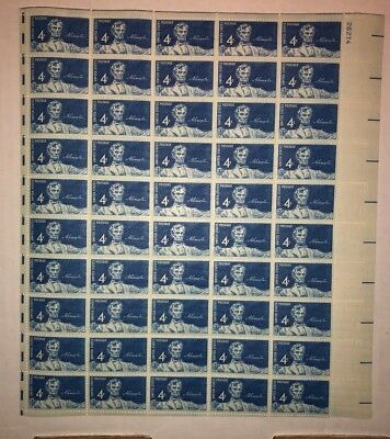 Statue of ABE LINCOLN 4 CENT FULL SHEET of 50 - 1959 #1116 for sale  Shipping to Canada