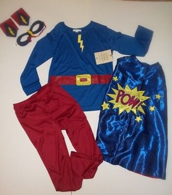Pottery Barn Kids Amazing Boy Super Hero Costume Sz: 7 - 8 #657
