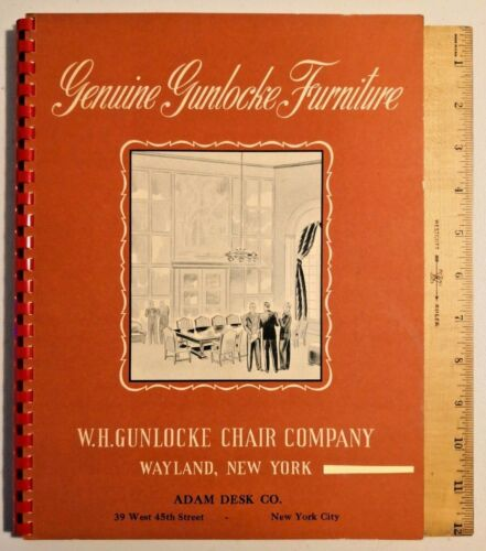Collectible 1940s WH GUNLOCKE CHAIR CO VINTAGE BUSINESS FURNITURE CATALOG