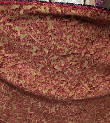 RED COPPER CHENILLE UPHOLSTERY FABRIC (54 in.) Sold By The Yard ()