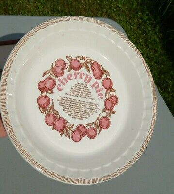 Vintage Royal China Country Harvest 1983  Made In USA Cherry Pie Recipe Plate