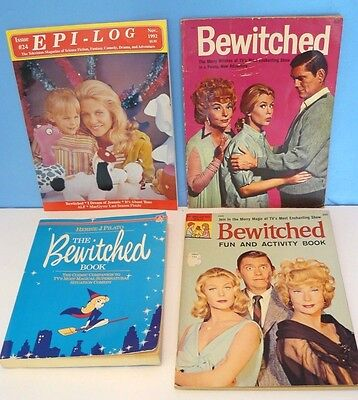 Lot of 4 Vtg. BEWITCHED BOOKS~TV Series COMPANION/ EPI-LOG 1992/ 2 ACTIVITY 1965