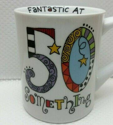 Lorrie Veasey Fantastic at 50 Something CUP Mug Our Name is Mud  Doodle Letters