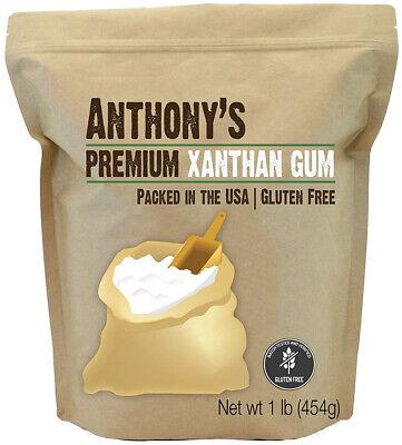 Xanthan Gum 1lb Gluten-Free for baking smoothies Ice cream Keto Vegan Cooking ()
