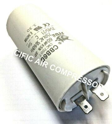 JENNY DEWALT ROLAIR EMGLO AIR COMPRESSOR START CAPACITOR 60 UF 250 VAC