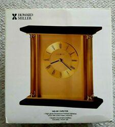 Howard Miller High GlossMantle Table Clock Carlton 645-391 Solid Brass Columns