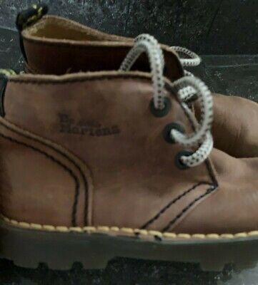 Boys Doc Dr Martens Boots Euro 29; UK 12; US 11 Ankle Laced Light Brown Leather