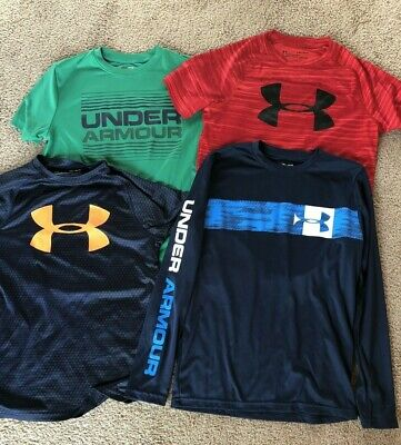 Under Armour Youth Medium Boy's Clothing Lot T-Shirt Long & Short Sleeve