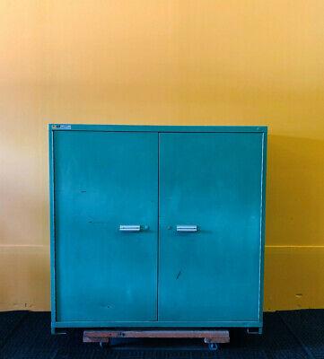 Stanley Vidmar 2-door 3 Shelf 60 X 28.5 X 59 Industrial Storage Cabinet