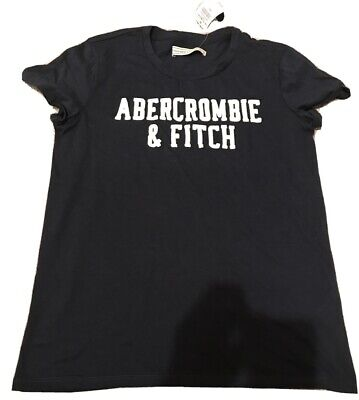 Abercrombie And Fitch Womens Navy Blue Logo T-Shirt Size S- Unworn