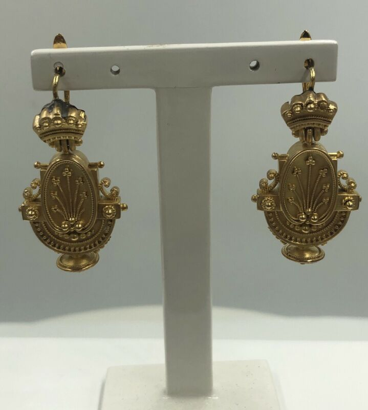 Antique Victorian 18k gold Earrings