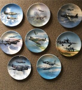 16 WWII Aircraft Collectors Plates