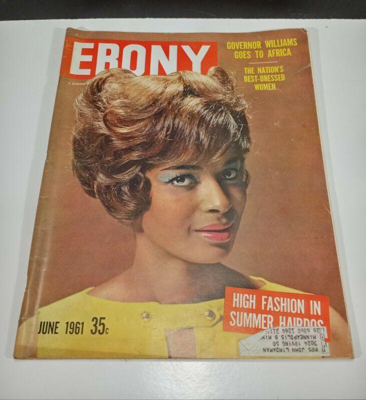 Vintage June 1961 Ebony Magazine 35c