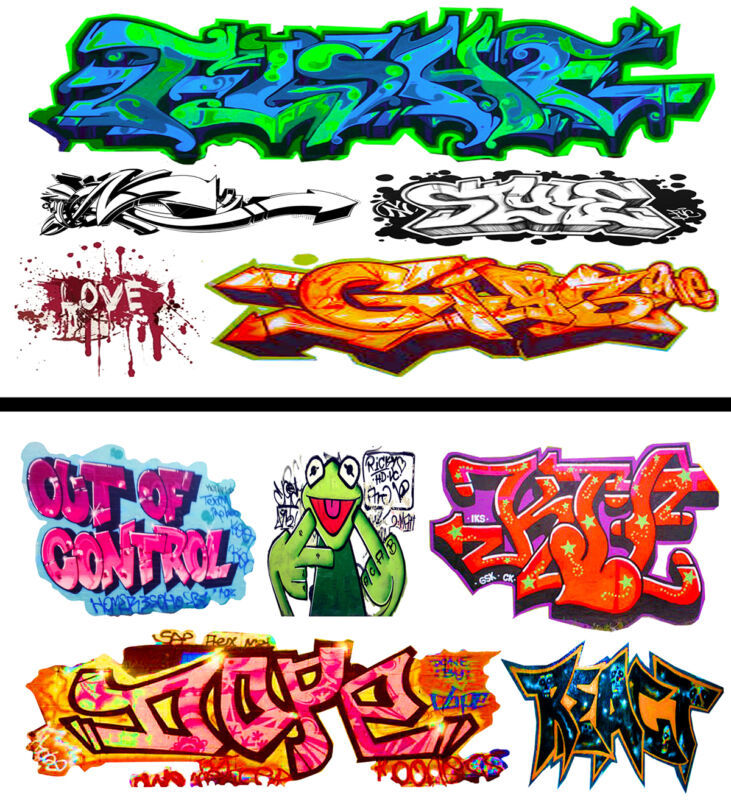 HO Scale Graffiti 2-Pack #23 - Weather Your Box Cars, Hoppers, & Gondolas!
