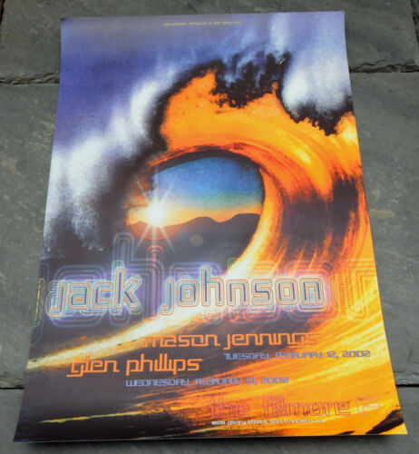 2002 Jack Johnson Fillmore Bill Graham Limited Edition Original Concert Poster