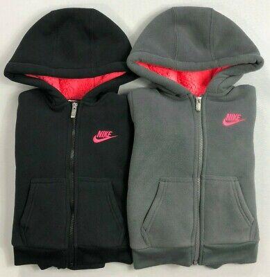 Girl's Little Youth Nike Full-Zip Fleece Sherpa-Lined Hoodie Jacket - Girls Sherpa Jacket