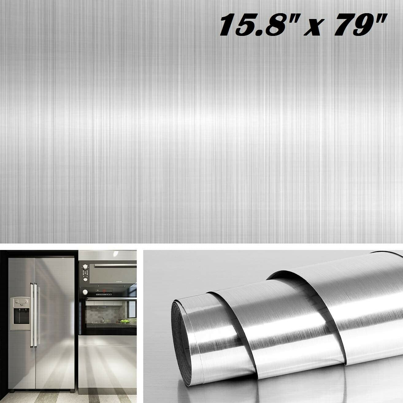 stainless steel silver contact paper vinyl self