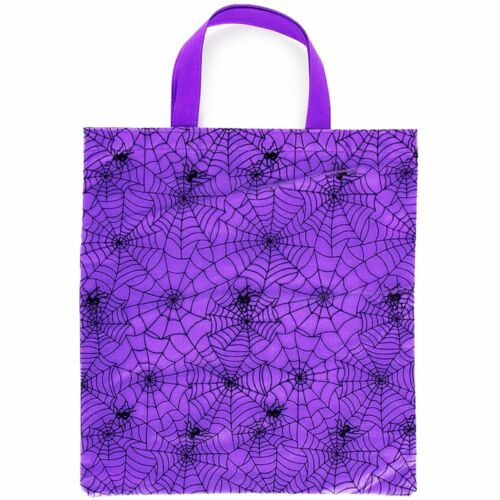 Halloween Spider Web Trick Or Treat Tote Bag - $3.83