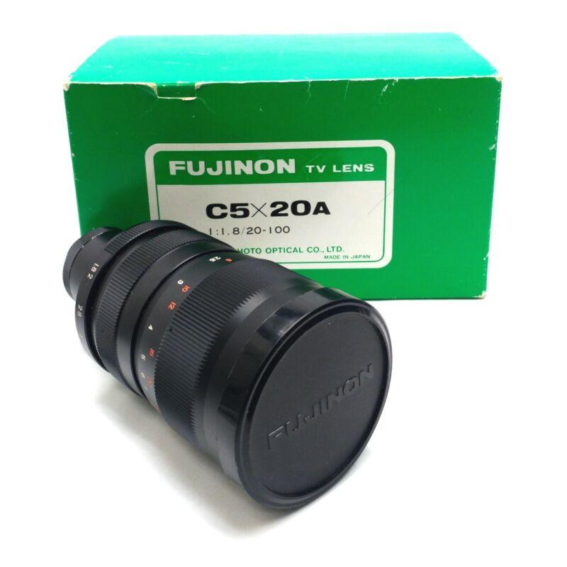 Fujinon C5X20A Machine Vision Lens 20-100mm Focal Length 1:1.8 Aperture C-Mount