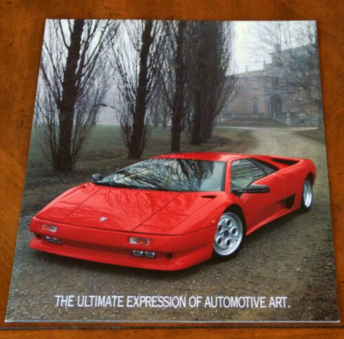 Lamborghini Diablo US brochure Prospekt, 1992