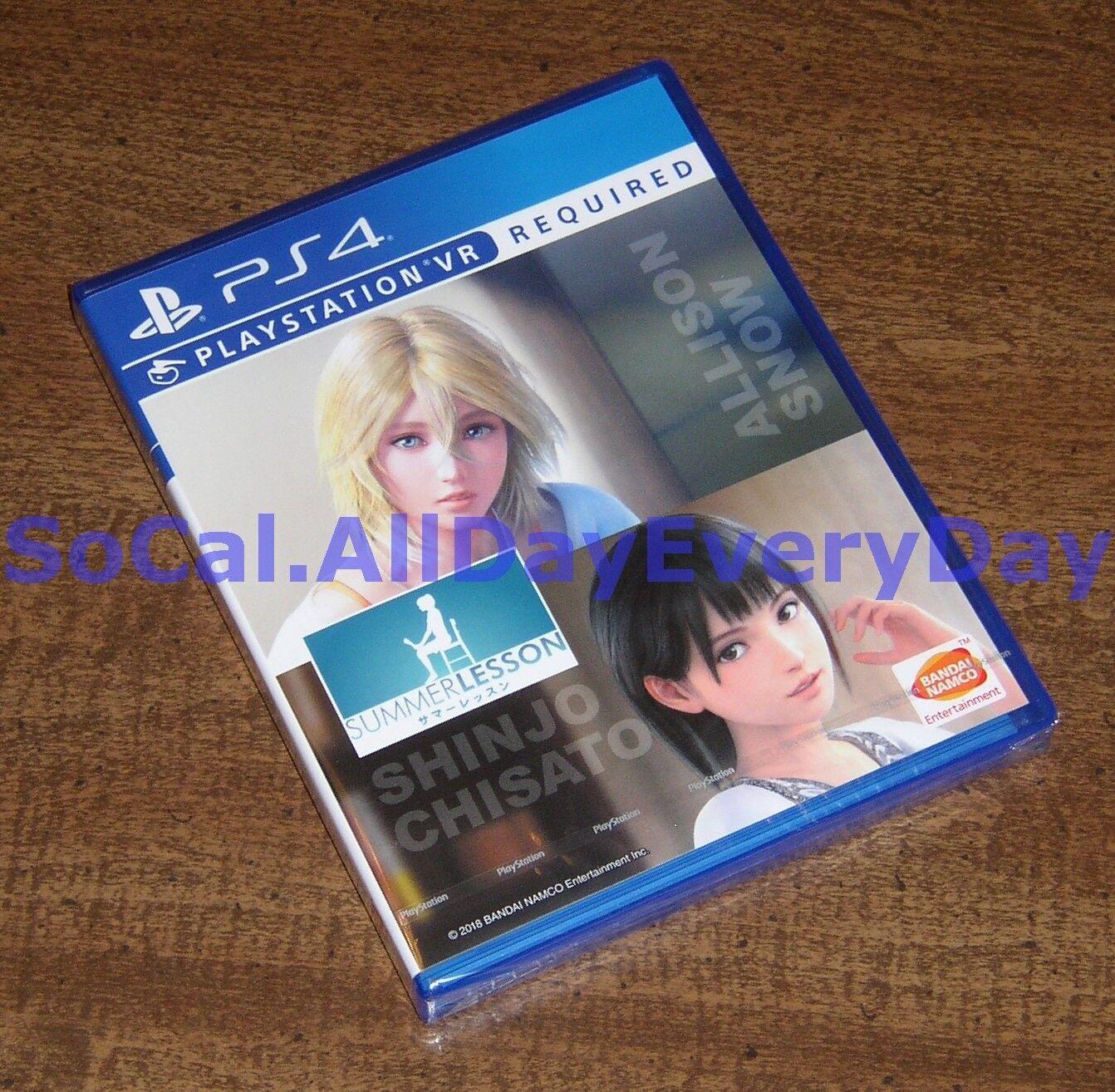 Summer Lesson VR 2-Pack Allison Snow Shinjo Chisato PS4 PSVR Import, English - $109.99