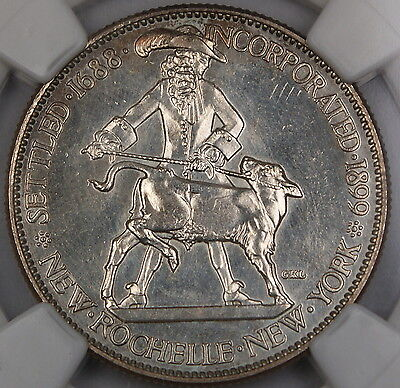 Click now to see the BUY IT NOW Price! 1938 SPECIMEN NEW ROCHELLE COMMEMORATIVE HALF DOLLAR NGC MS 66 PL