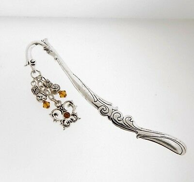 Ganz Bookmark Crystal Butterfly Charm Silver Metal New ()