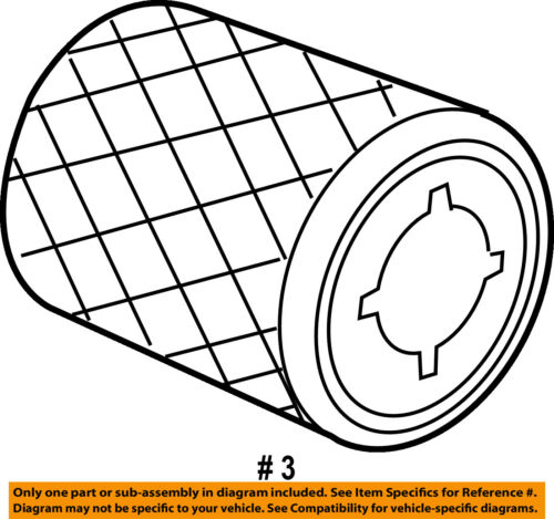 Chrysler Oem Engine Air Filter Element 4891097aa