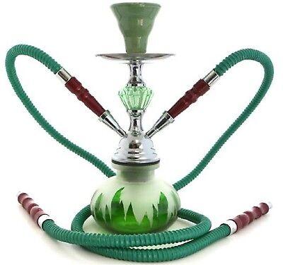 Hookah Shisha Tobacco Set 2 Hose Smoking Water Bong Pipe Narghile Glass Smoke