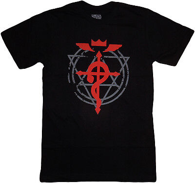 Fullmetal Alchemist Brotherhood Flamel Cross Men Black T Shirt Official License