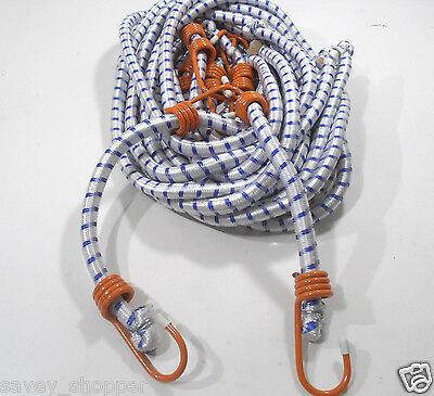 Bungee Cord Heavy Duty 6 Pc. 48 Inch 4 Ft. Orange Hook Tie Down Strap-6 Pc.