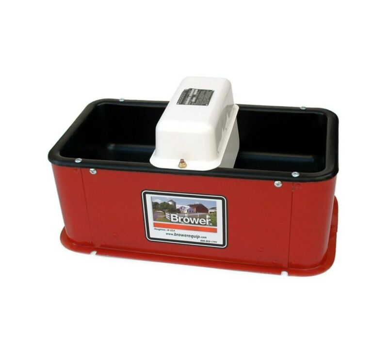 Brower MC32HE Insulated Electric Heated Double Drink Horse Waterer Livestock