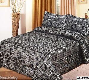 al4329 3teile tagesdecke patchwork bett berwurf decke kissen set 250 x 260 cm ebay. Black Bedroom Furniture Sets. Home Design Ideas