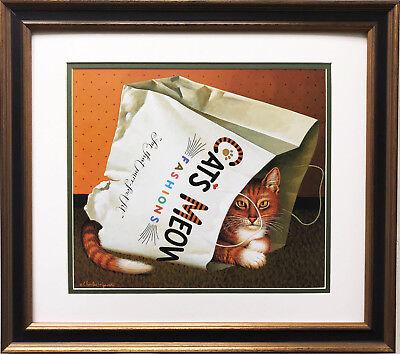 100/% Cotton Pet Origami Cat Feline Pattern ECO TOTE SHOPPING BAG 150GSM 5oz