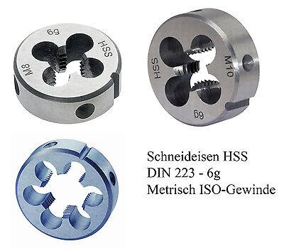 Schneideisen M 6 HSS Außen Gewindeschneider Gewinde Schneider M6 DIN 223 rechts
