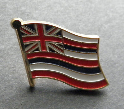 HAWAII US STATE SINGLE FLAG LAPEL PIN BADGE 7/8 INCH