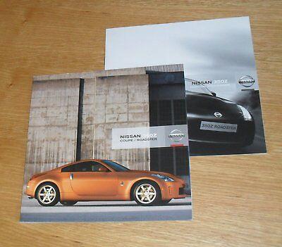 Nissan 350Z Coupe & Roadster Brochure Set inc GT Pack 2007
