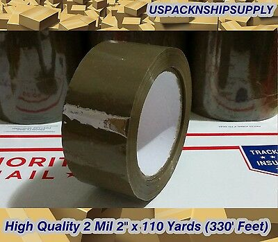 36 Rolls Brown Tan Sealing Packing Tape Shipping Box 2 Mil 2