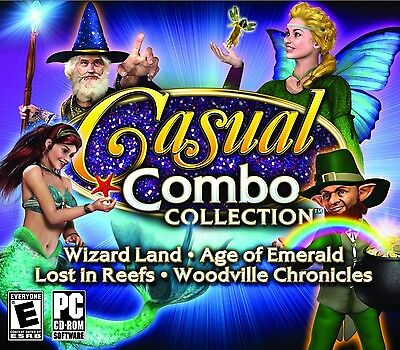 Computer Games - Casual Combo Collection PC Games Windows 10 8 7 XP Computer hidden object NEW
